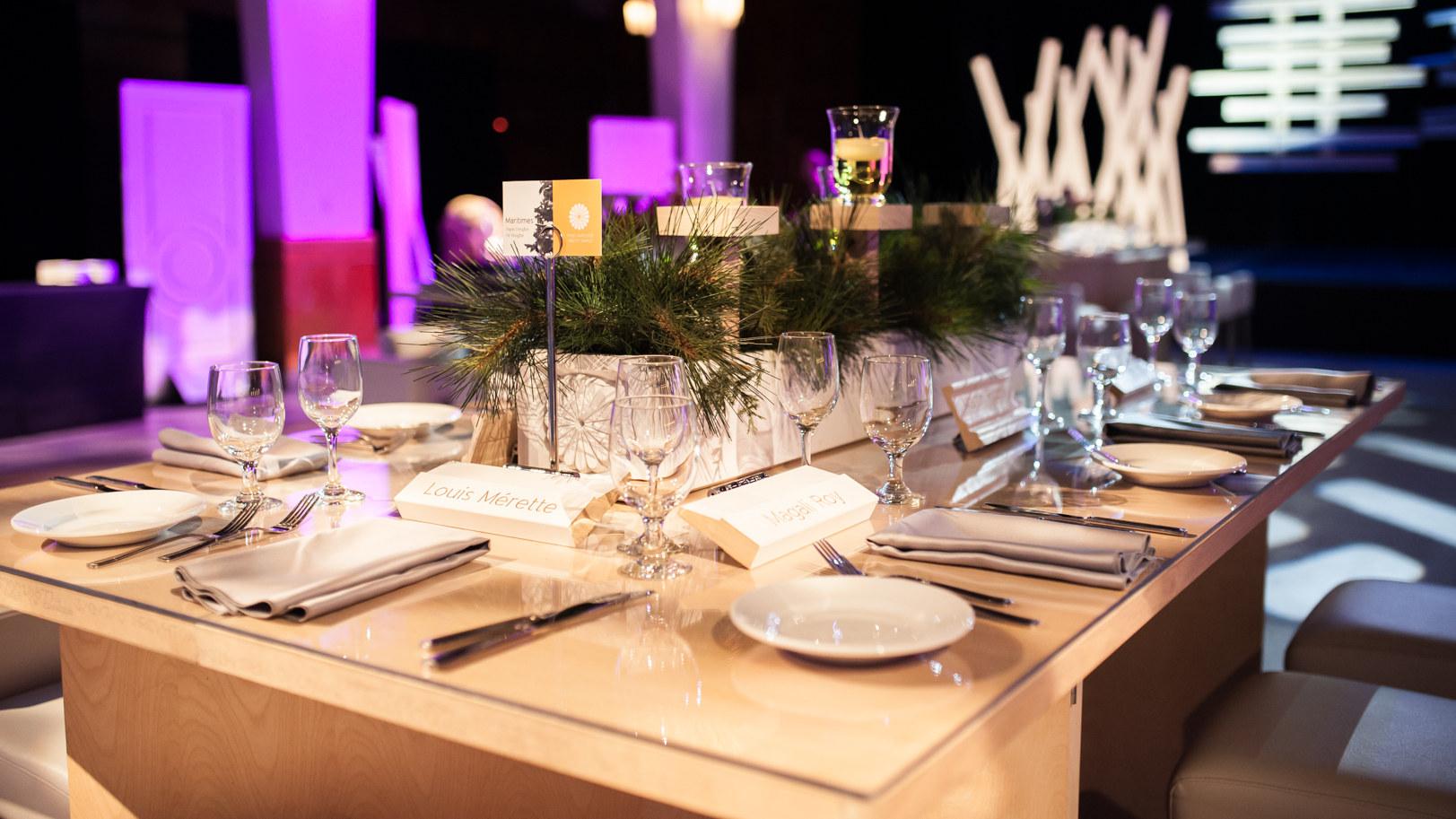 Table pour soirée corporative