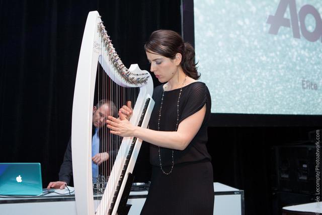 Harpiste pour l'événement