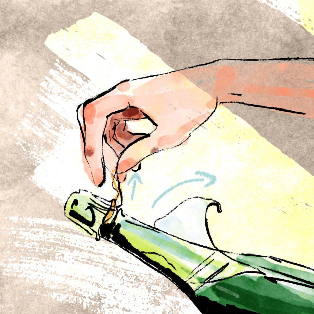 Ouverture du champagne